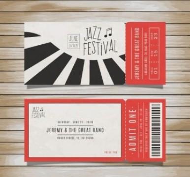 diseño de boletas para eventos musica