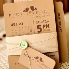 diseños de partes de matrimonio en carton