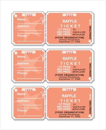 ejemplos de boletos de rifa rosa