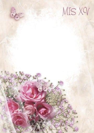 fondos para tarjetas de 15 años con rosas