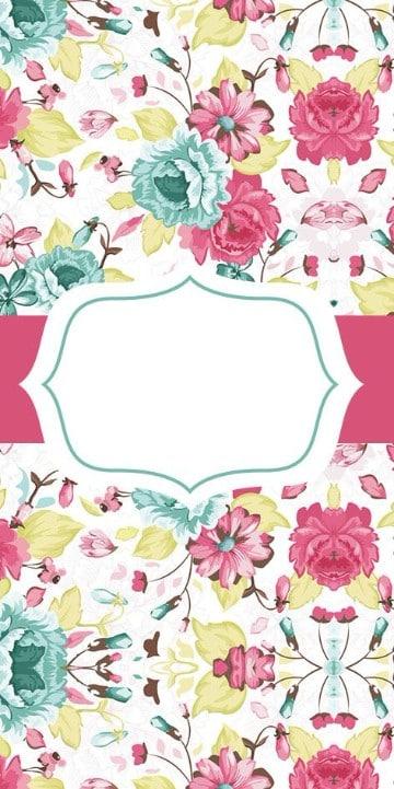 fondos para tarjetas de 15 años flores