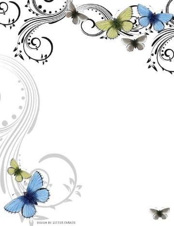 fondos para tarjetas de 15 años mariposas