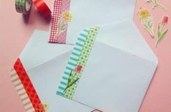 imagenes de sobres decorados con cinta