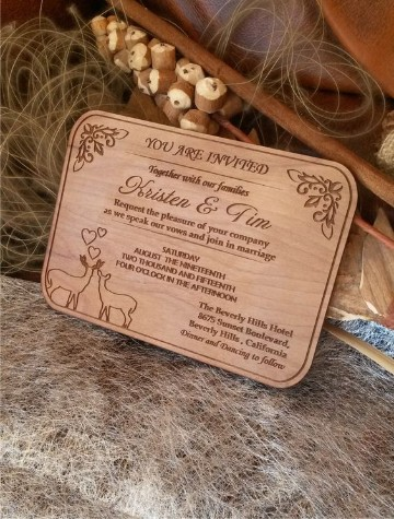 invitaciones de boda en madera originales
