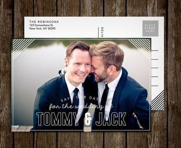invitaciones de boda gay con foto