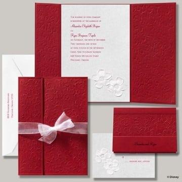 invitaciones de boda rojas elegantes