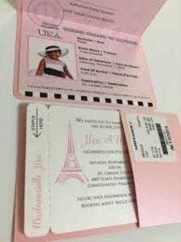 Diseños De Invitaciones De La Torre Eiffel Muy Glamurosos