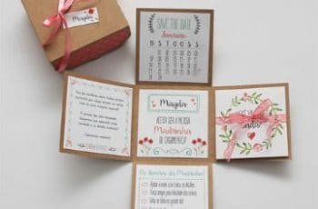 invitaciones en forma de caja creativa