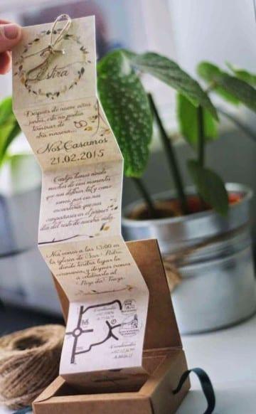 invitaciones en forma de caja original