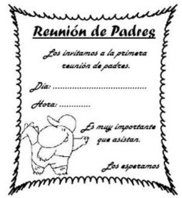 invitaciones para eventos escolares padres