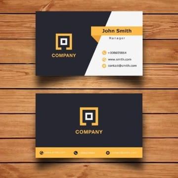 logos para tarjetas de presentacion en cuadrado