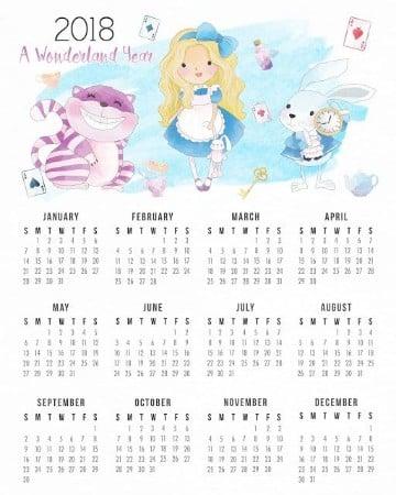 modelos de calendarios 2018 alicia