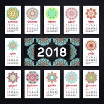 modelos de calendarios 2018 mandala