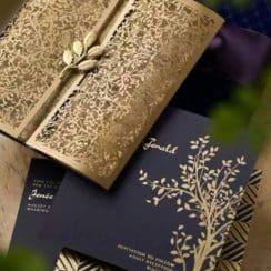 sobres para tarjetas de invitacion en dorado