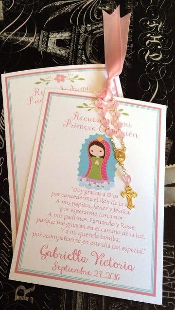 tarjetas de comunion para niña con imagen
