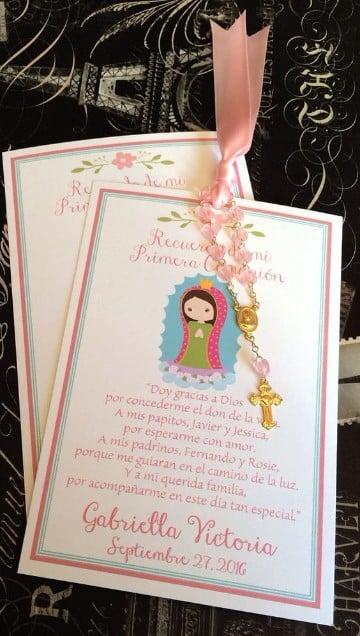 tarjetas de invitacion en cartulina comunión