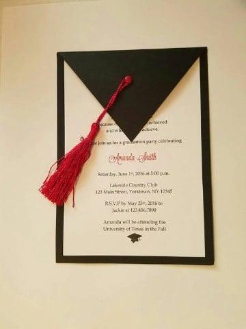 tarjetas de invitacion en cartulina graduación