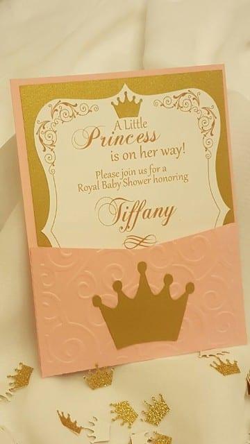 tarjetas de invitacion en cartulina niña