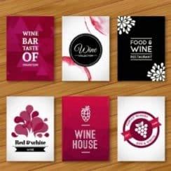 tarjetas de presentacion de comida rosa
