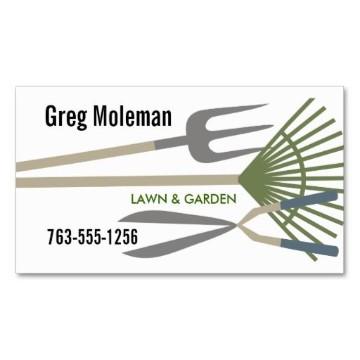 tarjetas de presentacion jardineria en blanco