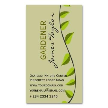 tarjetas de presentacion jardineria sencillas