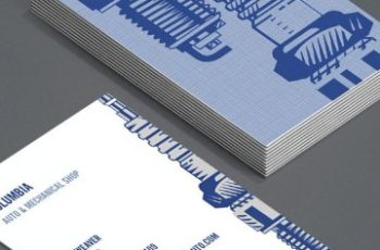 tarjetas de presentacion mecanico con estilo