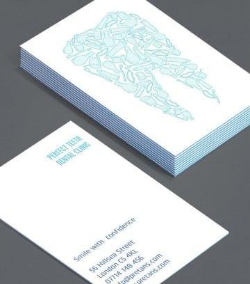 tarjetas de presentacion medicos dentista