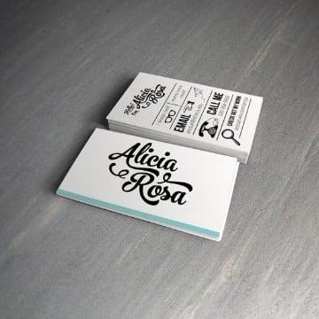 tarjetas de presentacion minimalistas conceptuales
