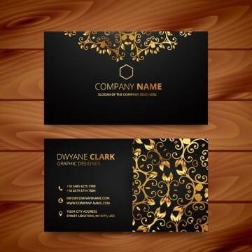 tarjetas de presentacion negras con diseños