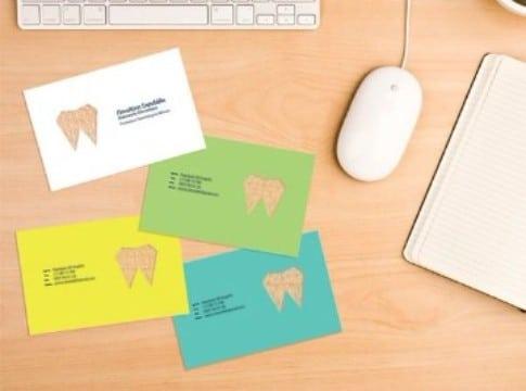 tarjetas de presentacion odontologia colores