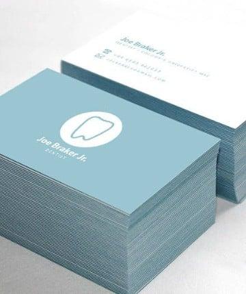tarjetas de presentacion odontologia verdes