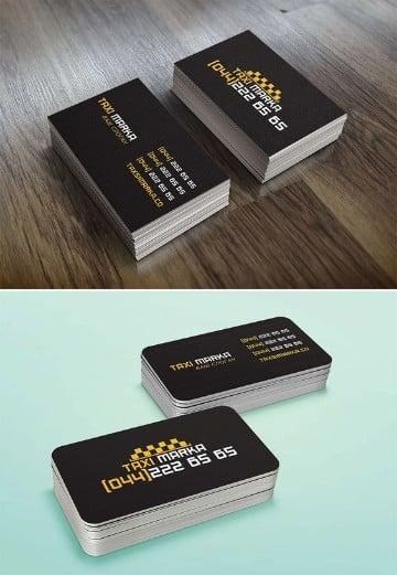 tarjetas de presentacion para taxi en negro