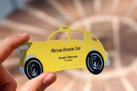 tarjetas de presentacion para taxi originales