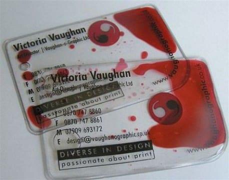 tarjetas de presentacion transparentes con colores