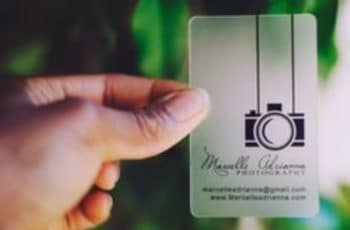 tarjetas de presentacion transparentes para fotografos