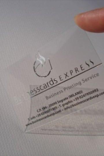 tarjetas de presentacion transparentes sencillas