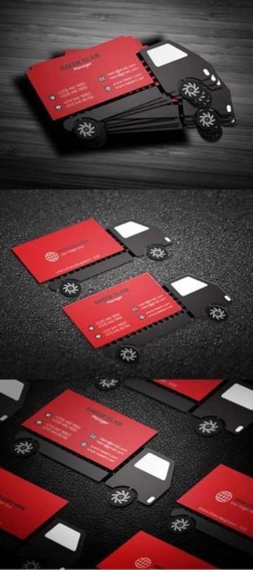 tarjetas de presentacion transporte camion