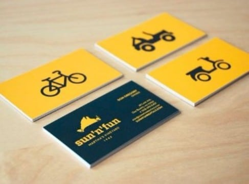 tarjetas de presentacion transporte moto