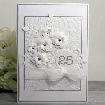 tarjetas para bodas de plata con troquel