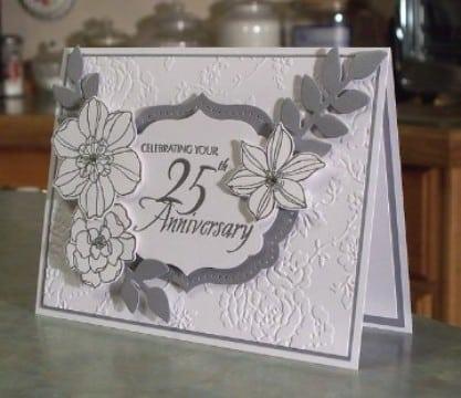 tarjetas para bodas de plata de celebracion