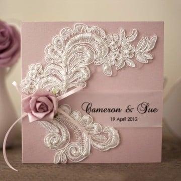 tarjetas para matrimonio civil en rosa
