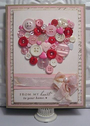 como hacer tarjetas de corazon creativas