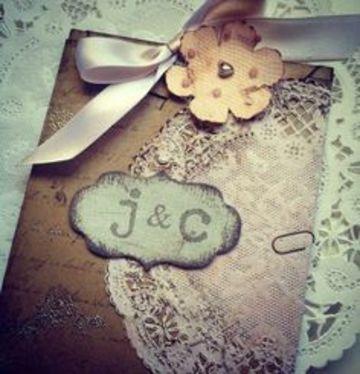 invitaciones de boda a mano artesanales
