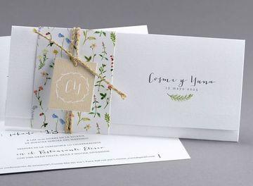invitaciones de boda en blanco sencilla
