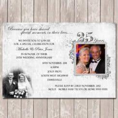 invitaciones para bodas de plata con fotos