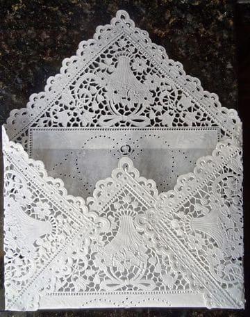 sobres para tarjetas de boda blanco