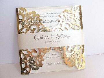 sobres para tarjetas de boda dorado