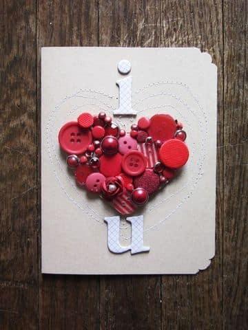 tarjetas 3d de amor corazon