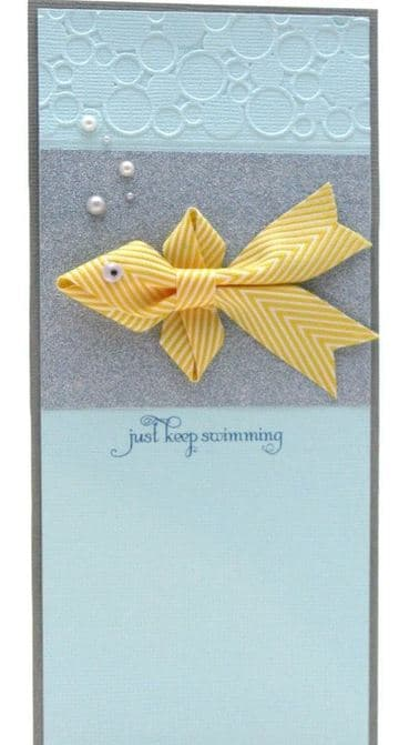 tarjetas creativas hechas a mano con cinta de tela