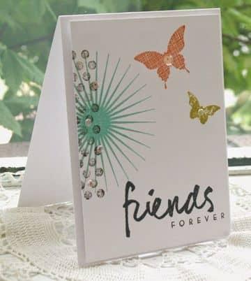 tarjetas de amigas por siempre de mariposas
